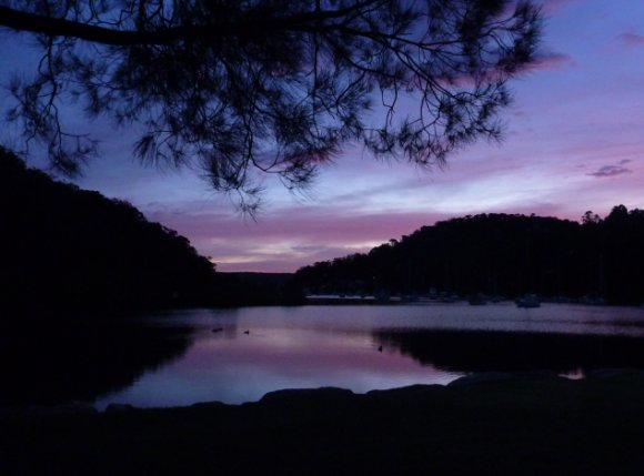 5.45am dawn at Pittwater