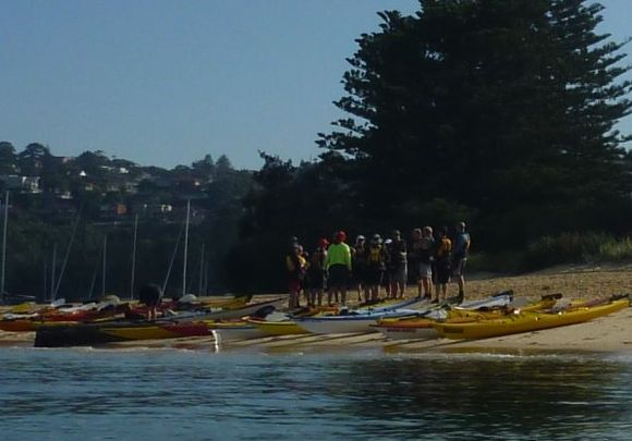 NSWSKC preparing for their Middle Harbour paddle