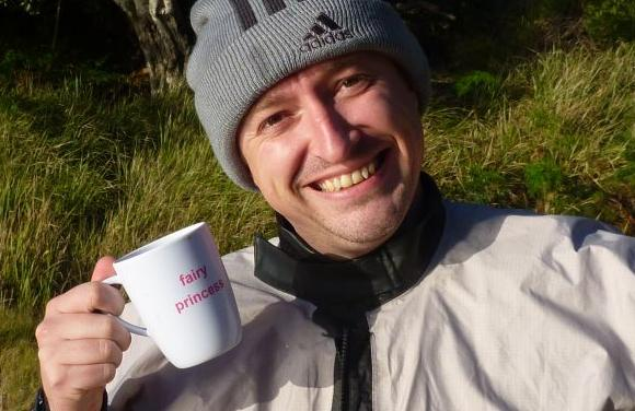 Grumm's coffee cup. Nice mug, ya mug!