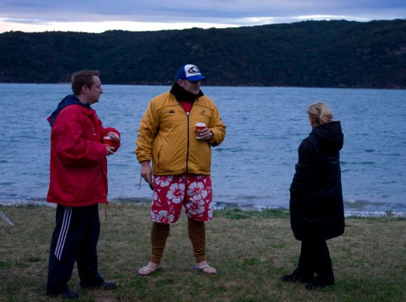 Early morning coffee, Pittwater side of Palmy (thanks to Pete Morgan and Mitchell Gailbraith for pic)
