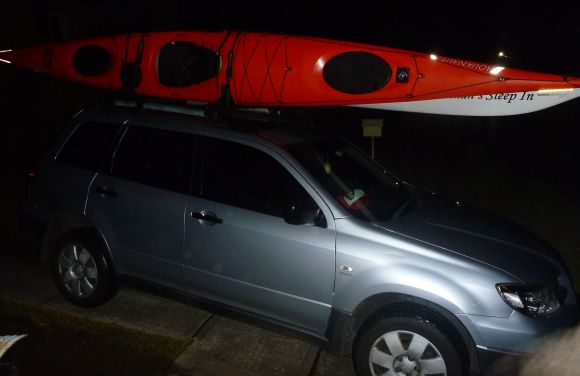 FP's Fatmobile, packed and ready to set off in the darkness