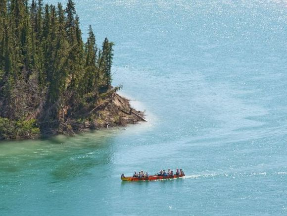 Yukon Buddies training run on the Yukon River