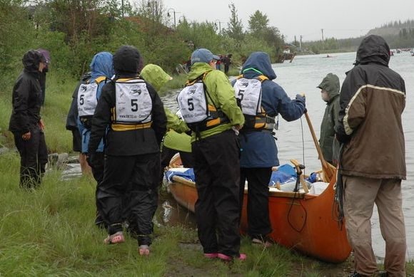 Yukon Buddies at the start of the Yukon River Quest