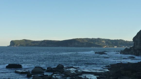 Looking from the point back to Avoca.