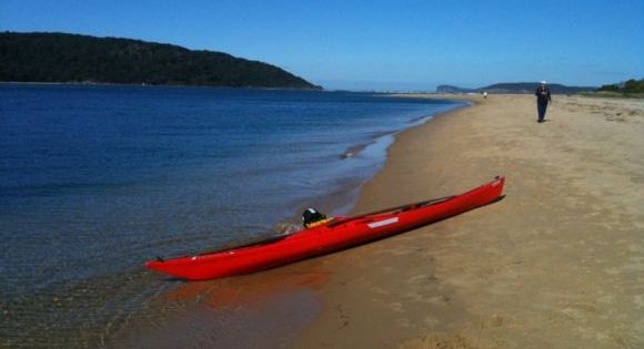 The calm waters of Ettalong Beach. Perfect for kayak launching.