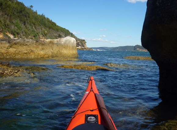Gentle paddles amongst the rocks.