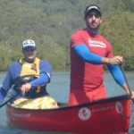 Two crazy men in a canoe - bring it!