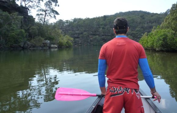 Nice pink paddle Gelo. Really, errr, nice!