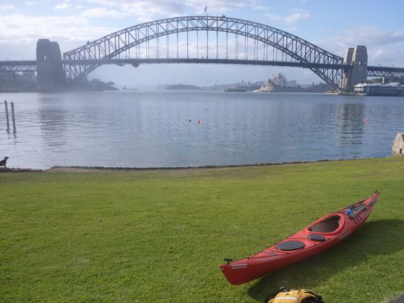 Blues Point - not a bad spot to start and end a paddle!