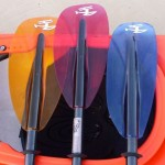 Three great looking Crystal-X paddles from H2O Performance Paddles