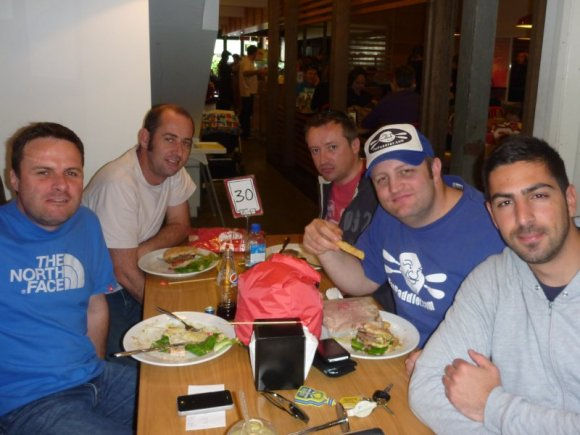 Team Fat Paddler (from left) - Sacha, Burnsie, Grumm, FP and Gelo