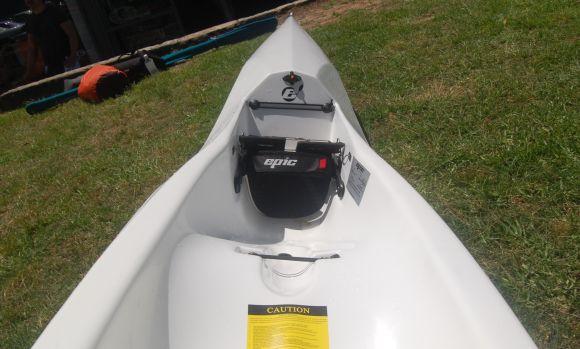 Epic V8 Cockpit - racing lines, cutaway paddle zone, drink bottle recess, venturi drain