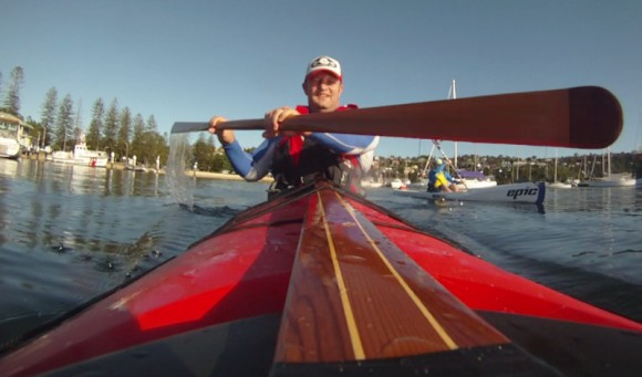 Happiness is paddling under a Sydney Summer sun!