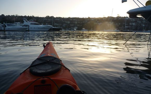 It's first waterborne photo. Dawn on Middle Harbour.