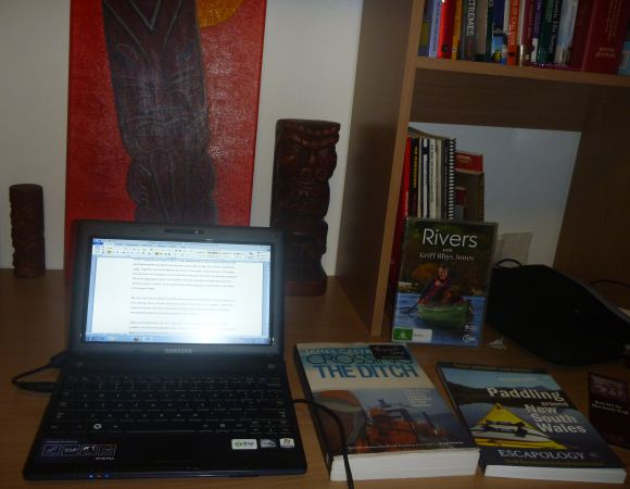 Fat Paddlers current home. Chained to the desk writing....