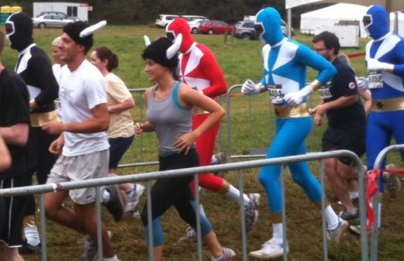 ...followed closely behind by the Power Rangers!