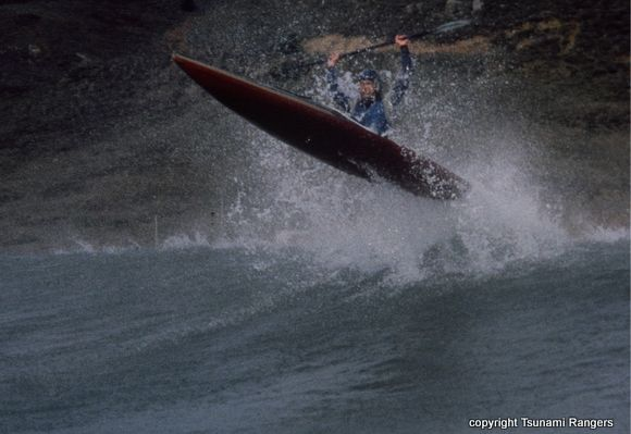 Eric Breaks the Wave Barrier in a Tsunami X-1 Rocket (photo by Jim Kakuk)