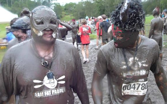 FP and Gelo.... exhausted, muddy, but finished. Yeeeeehaw!