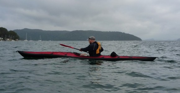 As the cloud cover closed in, Scott demonstrated his instructor paddling skills