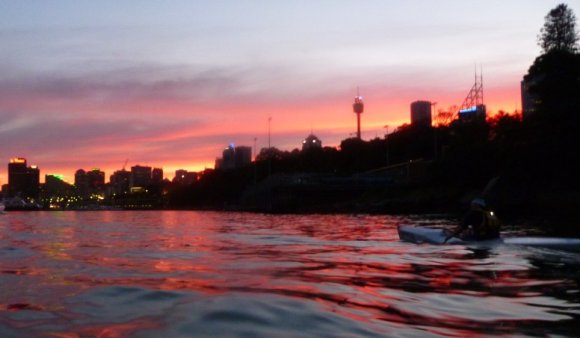 Last light over the East Sydney skyline.
