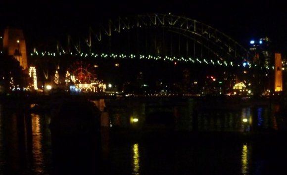 Sydney Harbour Bridge and the Luna Park Ferry stop