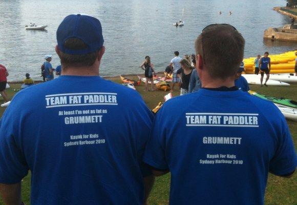 Members of Team Fat Paddler at the 2010 K4K