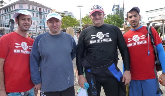 Two thirds of Team Fat Paddler at the end. Three of us had stayed dry - haha!