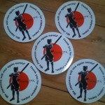 QajaqJPN Samurai Stickers - raising money for victims of the earthquakes and tsunamis