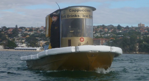 Garry and his Coffee Boat. Equally beautiful!!