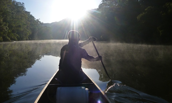 The return paddle allowed us to finally warm up with some sunshine