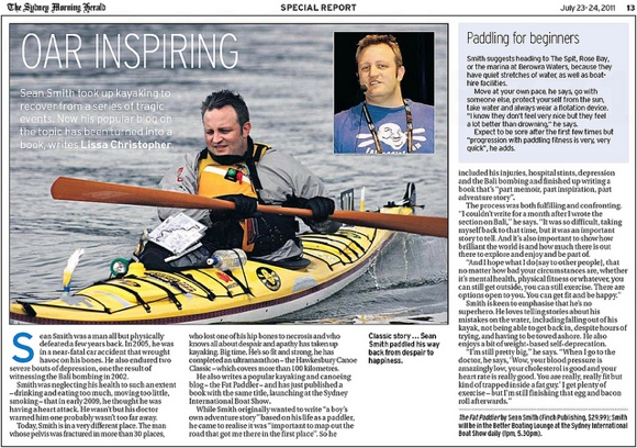 Oarinspiring - Sydney Morning Herald, 23 July 2