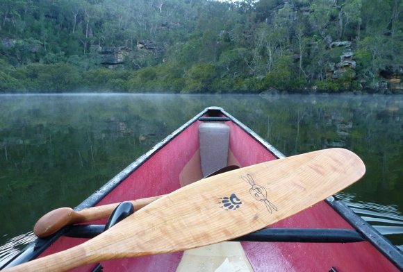 The Badger Sliver - a thin paddle designed for solo and style paddling