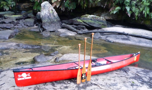 Beautiful paddles, a beautiful boat, and some beautiful wilderness. Love it!