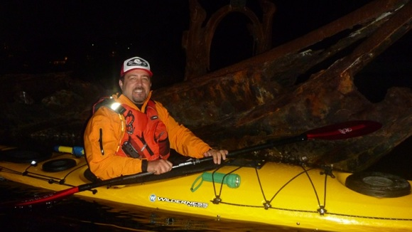 Midshipman Mike gets up close to a shipwreck
