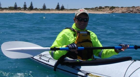 Adelaide paddler Ben - ex-army, ex-Marine Biologist, current Paramedic. Handy!