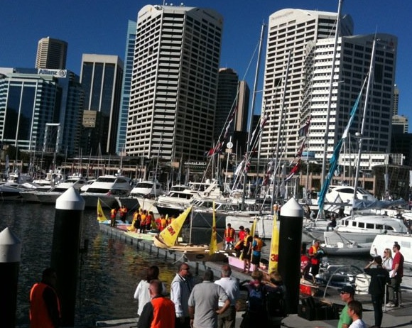 The Sydney skyline - not a bad backdrop for a boat race!