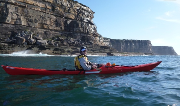 Lt Burnsie outside the North Head cliffs, with Manly off in the distance somewhere