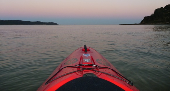 Paddling right up until sunset. Then sundowner time. ;)