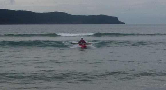 Surfing little 1 footers at Umina Beach. The Remix will surf anything!