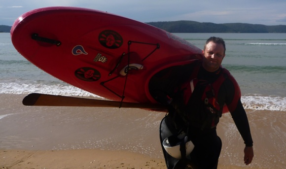 Now this is relaxing. A deserted beach, a kayak and hours to waste. Bliss!