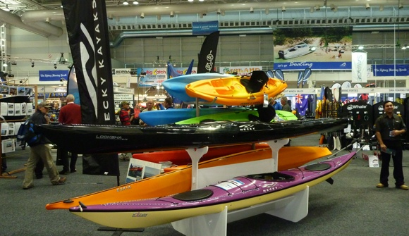 There were plenty of kayaks on show at the Sydney International Boat Show