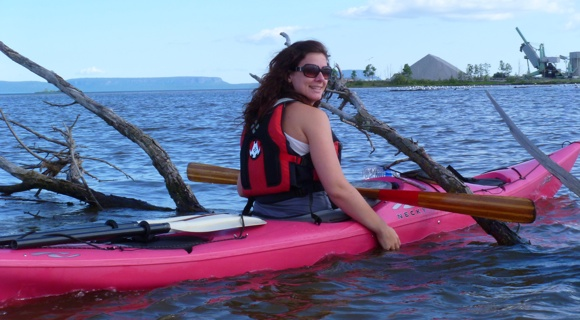 Team Fat Paddler's first female member, Sammy from Thunder Bay Canada