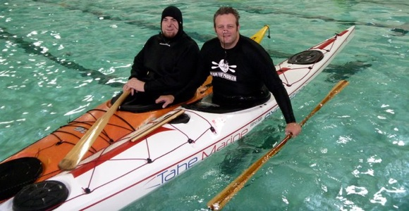 Thunder Bay paddler Steve with FP earlier in 2011
