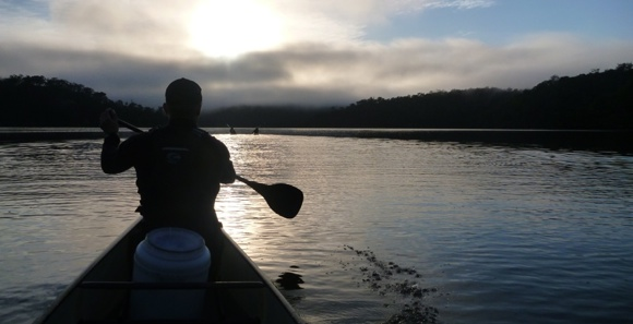 Paddlers at dawn. Amazing to think that every single day has such a magical start.