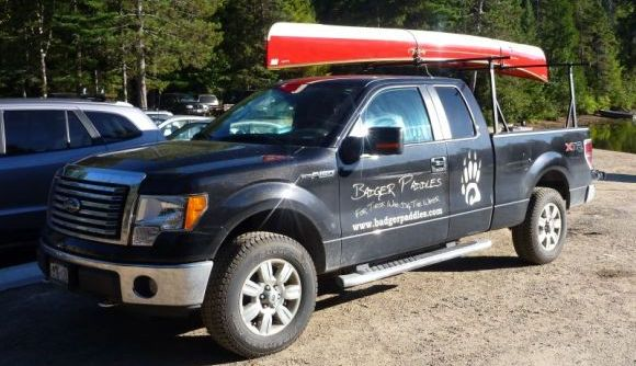 The Badger Mobile, the perfect truck for exploring Algonquin Park