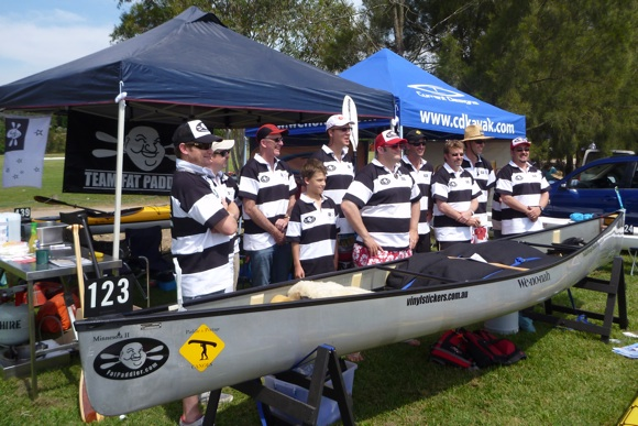 10 paddlers and over 20 landcrew worked together to create one team.