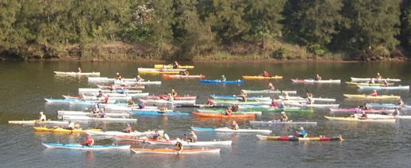 The start of the 2011 Hawkesbury Canoe Classic