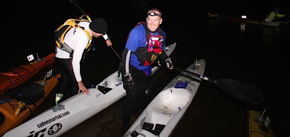 Nat and Pete, fastest paddlers in TFP, get back on the water before everyone else