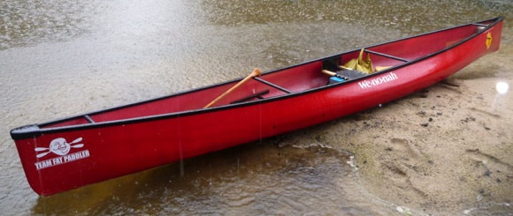 My Wenonah Encounter, a fun ride for exploring the rivers in the rain