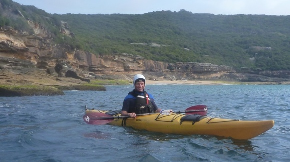 Our next first-timer, Mistico. More experienced in water, although not in a kayak